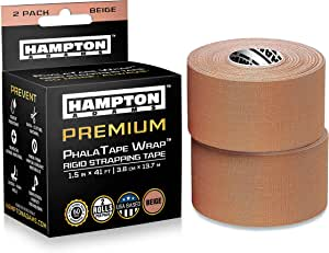 Rigid Strapping Tape - for Blister Prevention & McConnell Knee or Feet Taping for Backpacking Walking Running Hiking Trail Climbing in Shoes or Sock Liners - Perfect with Gaiters (2 Pack)