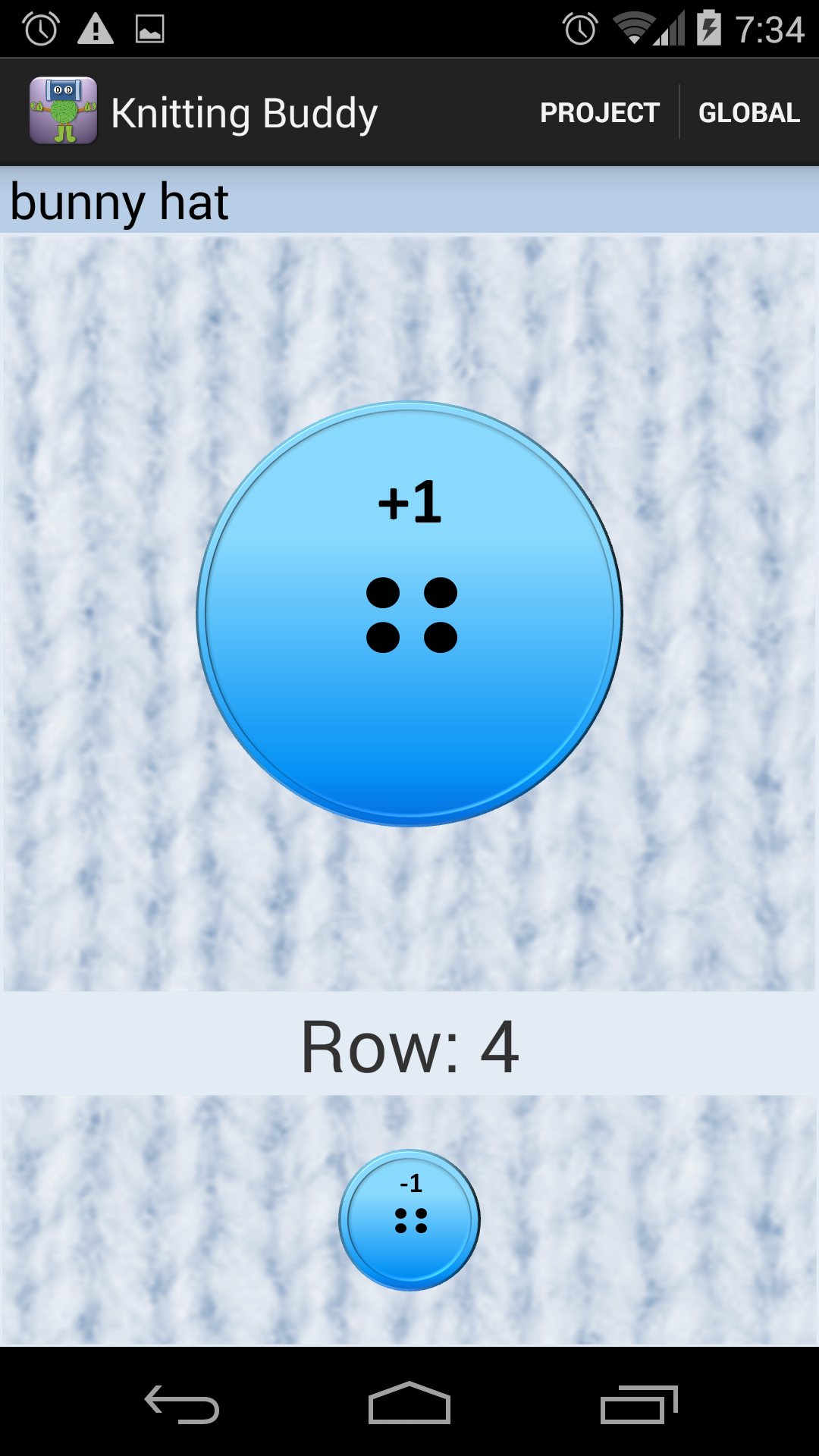 Knitting Row Counter App Android : Knitting buddy row counter amazon appstore para android