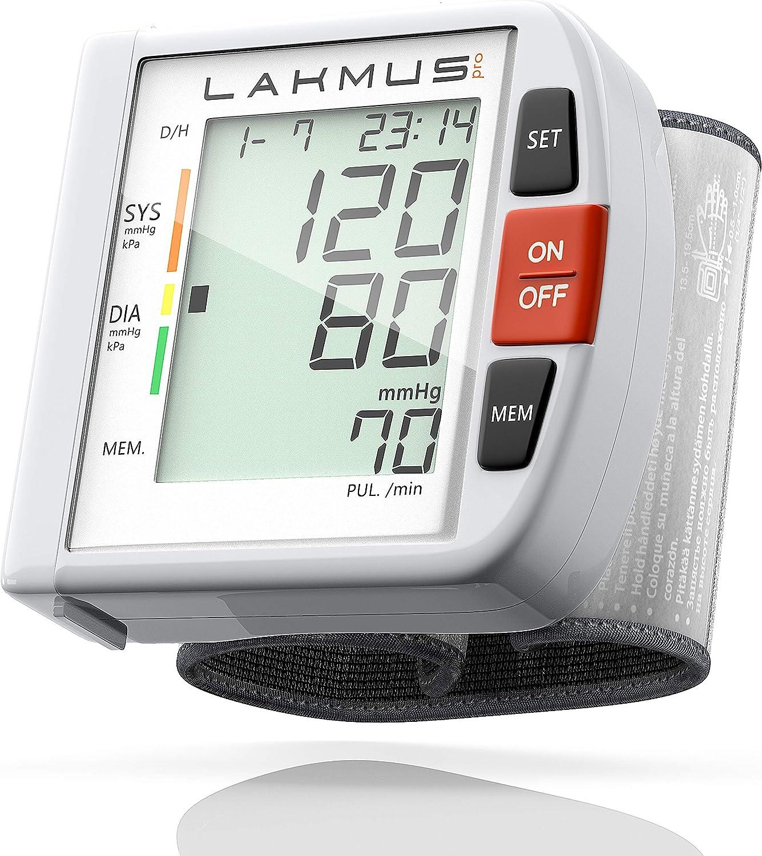 Amazon.com: Lakmus Monitor de presión arterial muñeca puño ...