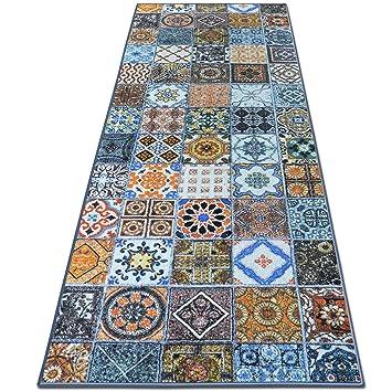 Teppichläufer Bonita | Patchwork Muster im Vintage Look | viele ...