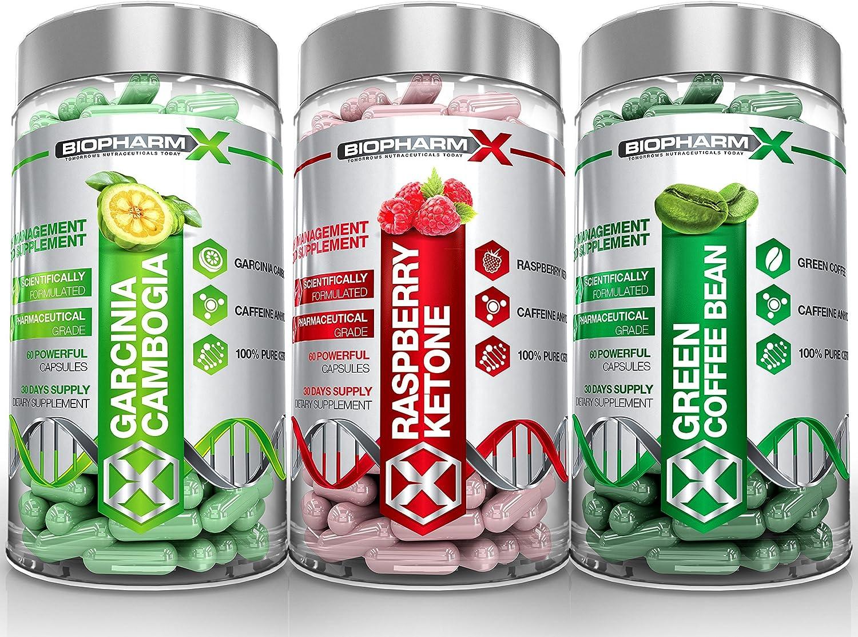 Garcinia Cambogia + Raspberry Ketones + Green Coffee Bean Extract (3 Bottle Multi-Saver Pack)