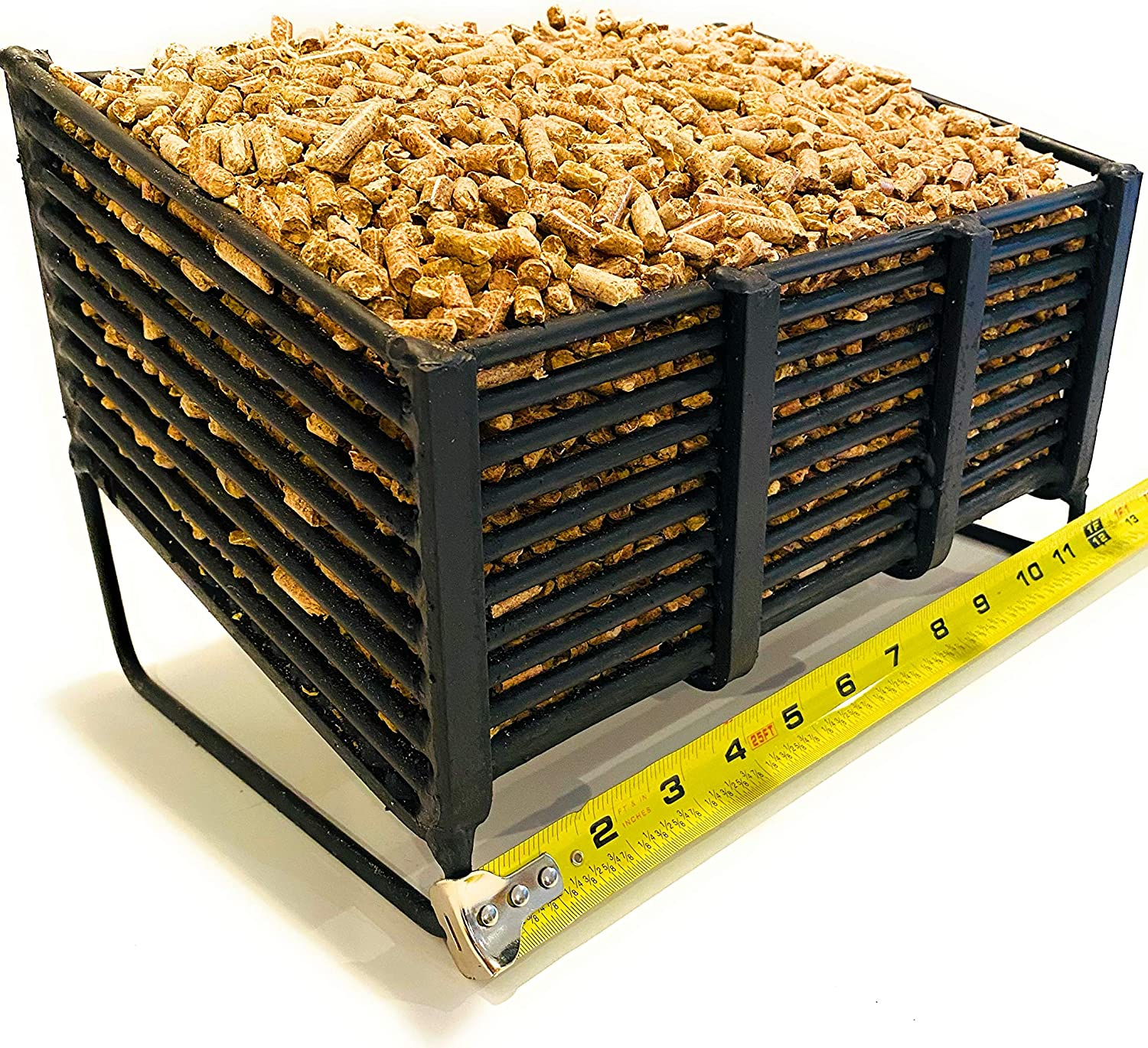 Small Pellet Basket, Heating Source Using Wood Pellets in Your Wood Stove or Fireplace
