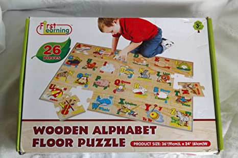 Alphabet Learning Toys : Amazon first learning piece wooden alphabet floor puzzle