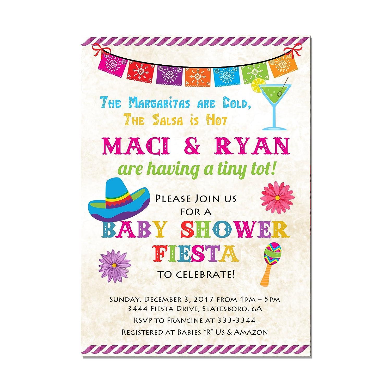 Amazon Com Mexican Fiesta Baby Shower Invitation Set Of 10