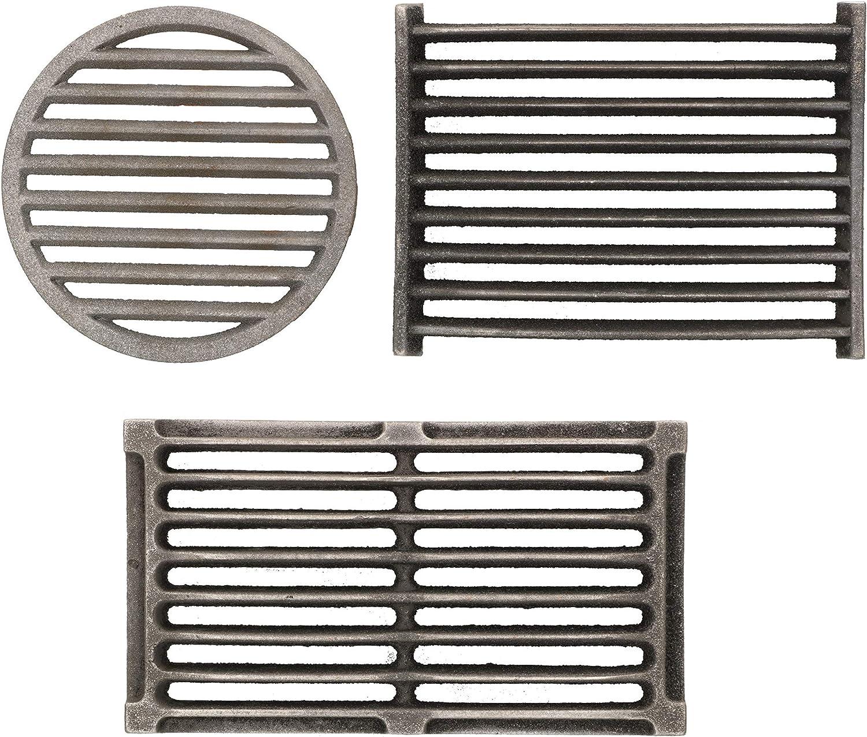 Kotarbau - Rejilla para chimenea, diferentes tamaños y formas, accesorio de repuesto, rejilla de horno, rejilla de horno, rejilla de horno, rejilla de hierro fundido