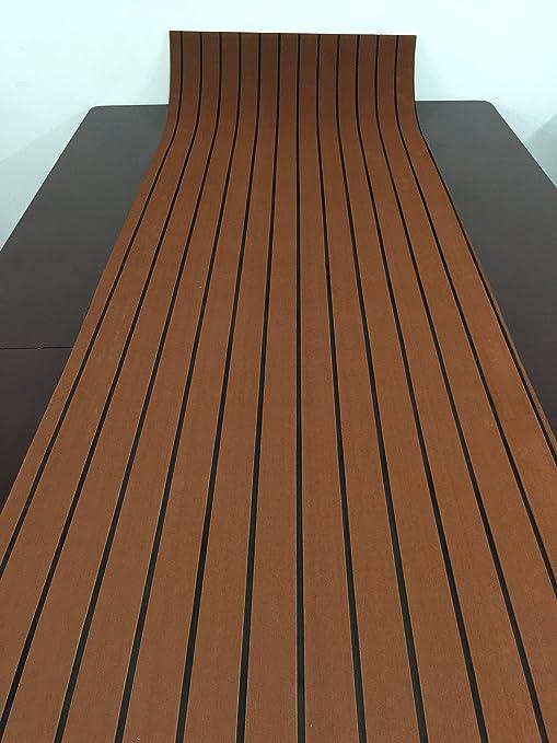 LM Schiuma EVA in finto legno teak da foglio marrone scuro marine 88 ...
