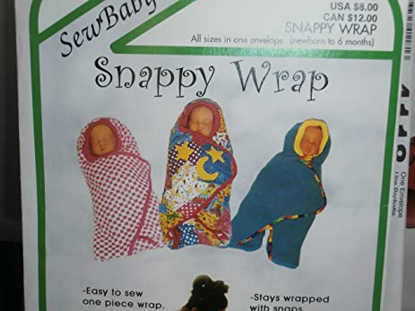 Amazon Sew Baby Sewing Pattern Snappy Wrap F860 Newborn To 6