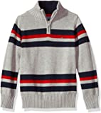 Tommy Hilfiger Boys' Long Sleeve Half Zip Pullover Sweater