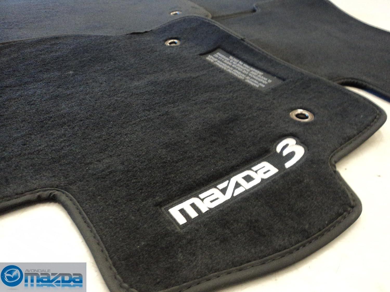 Floor mats mazda 3 - Amazon Com Mazda 3 2010 2012 New Oem Black Floor Mats Set Of Four With Gray Lettering Automotive