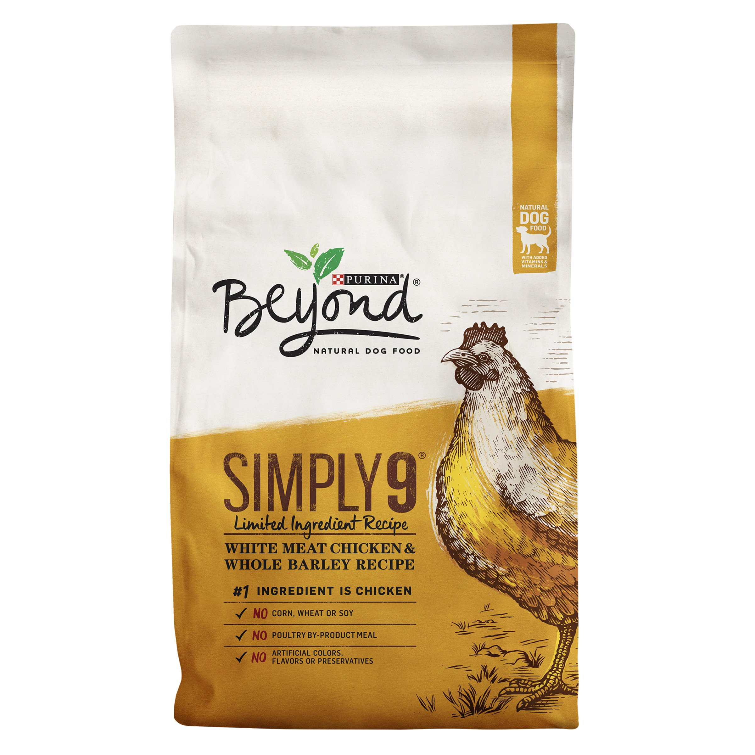 Purina Beyond Simply 9 White Meat Chicken & Whole Barley Recipe Adult Dry Dog Food - 24 lb. Bag