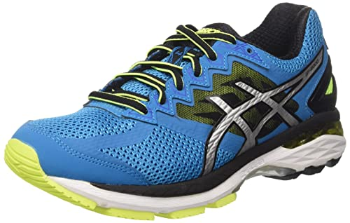 Asics Gt 2000 4 Scarpe Running Uomo Blu Blue Jewel/Black/Safety Yellow 40.5