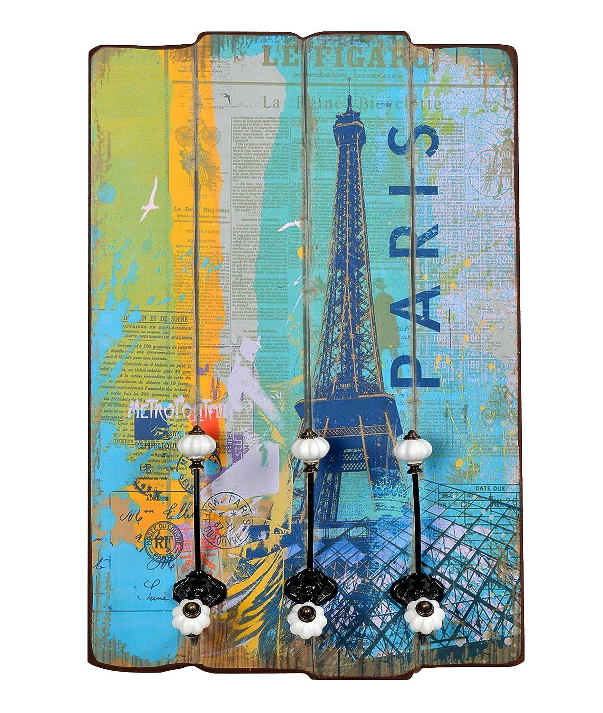 ts-ideen Appendiabiti da parete Paris in stile epoca effetto shabby. 60 x 40 cm. TS Ideen appendini; cappotti; giacche