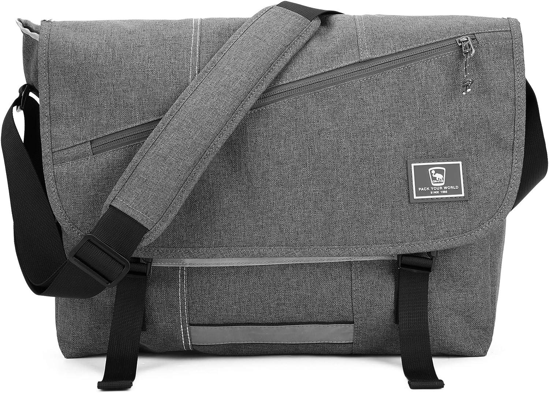 OIWAS Satchel Messenger Bag for Women Men Teens Briefcase Crossbody Shoulder Bag 14 15.6 Inch Laptop School Work Travel