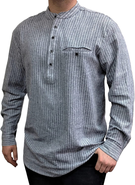 Lee Valley Mens Genuine Irish Cotton Flannel Nightshirt Large, LV6 Green Tartan Blackwatch