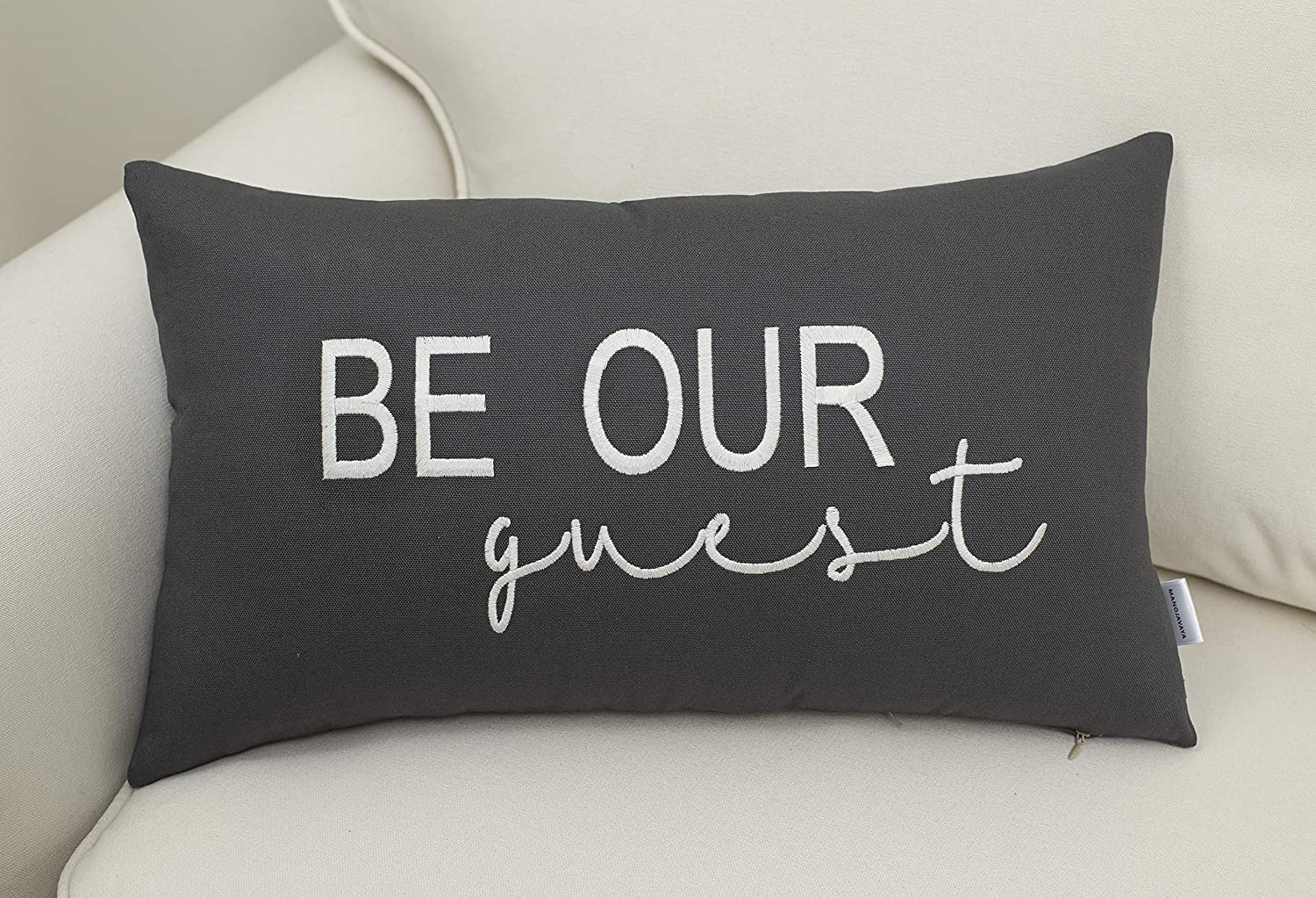 Amazon Com Eurasia Decor Decorhouzz Be Our Guest Embroidered