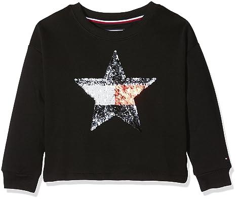 e199c975971e5 Tommy Hilfiger H Sequins Star CN HWK L S Sweat-Shirt Fille  Amazon.fr  Vêtements  et accessoires