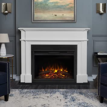 Amazon.com: Real Flame 8060E-W Harlan Grand Electric Fireplace ...