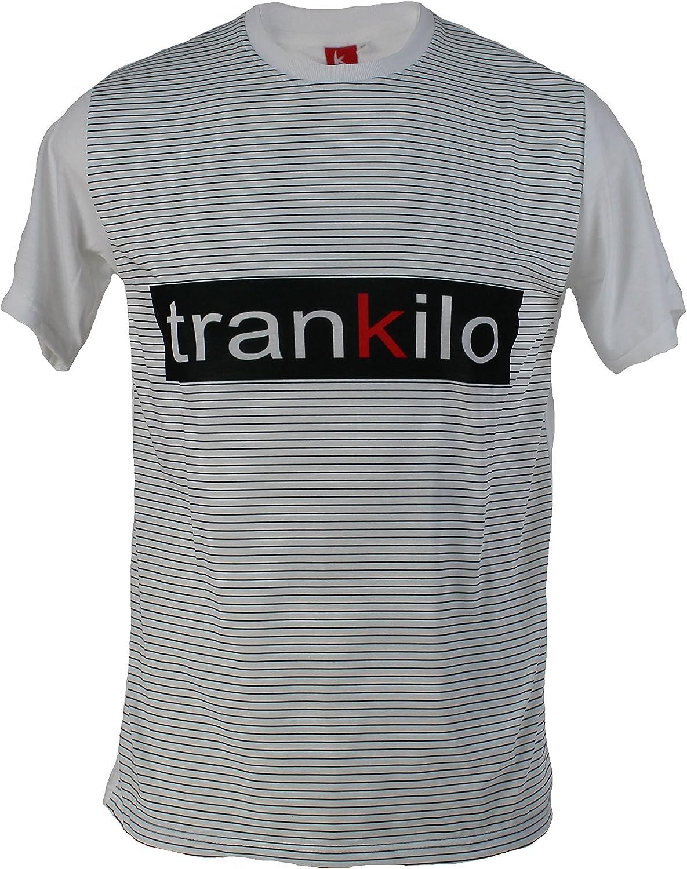 Camiseta Trankilo blanca con estampado del logo Trankilo (M): Amazon.es: Ropa y accesorios