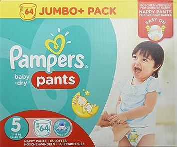 Pampers Baby-Dry Pants tamaño 5, 11 – 18 kg, pañales, 1er Pack ...
