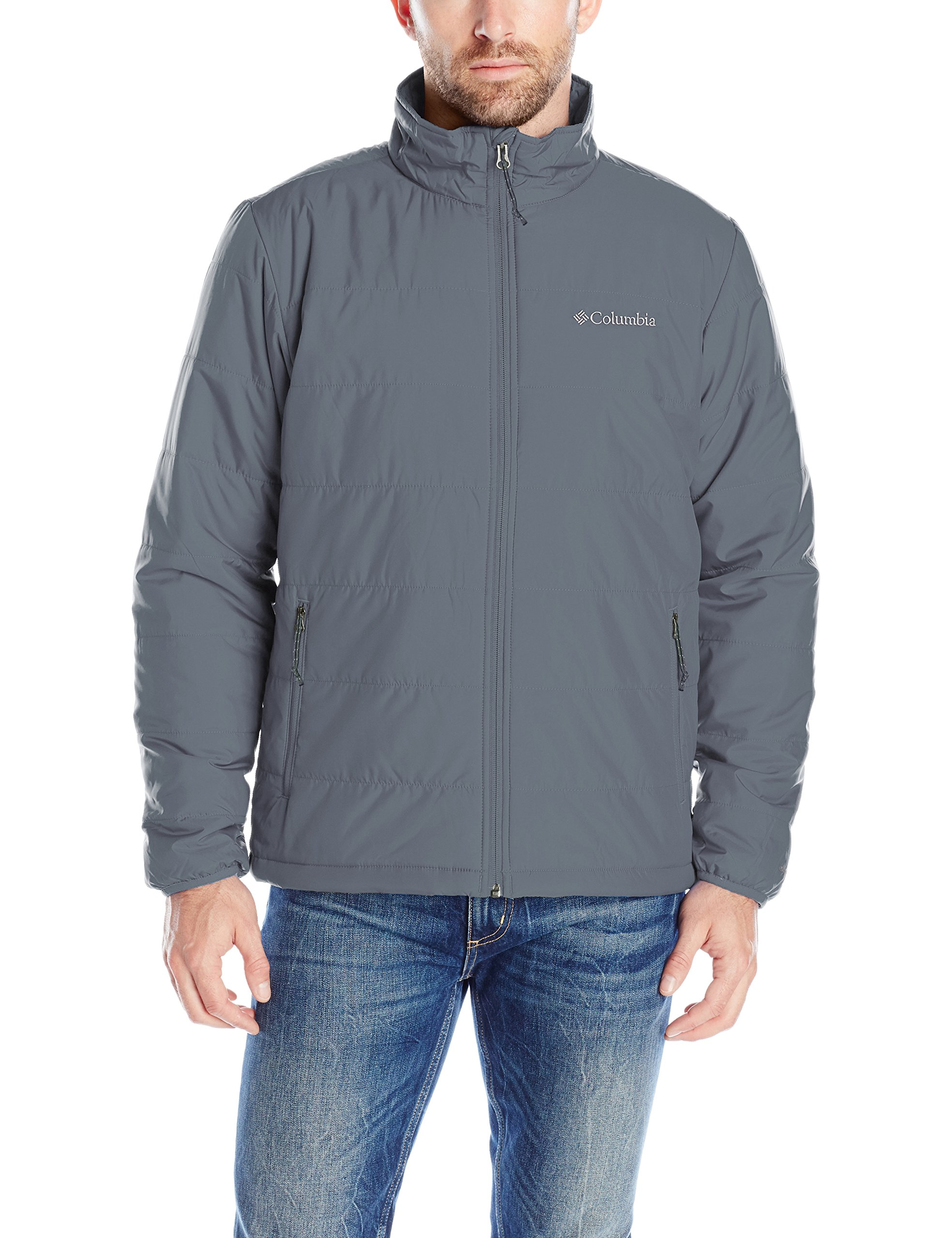 Columbia Men's Saddle Chutes Jacket, Graphite, X-Large by Columbia