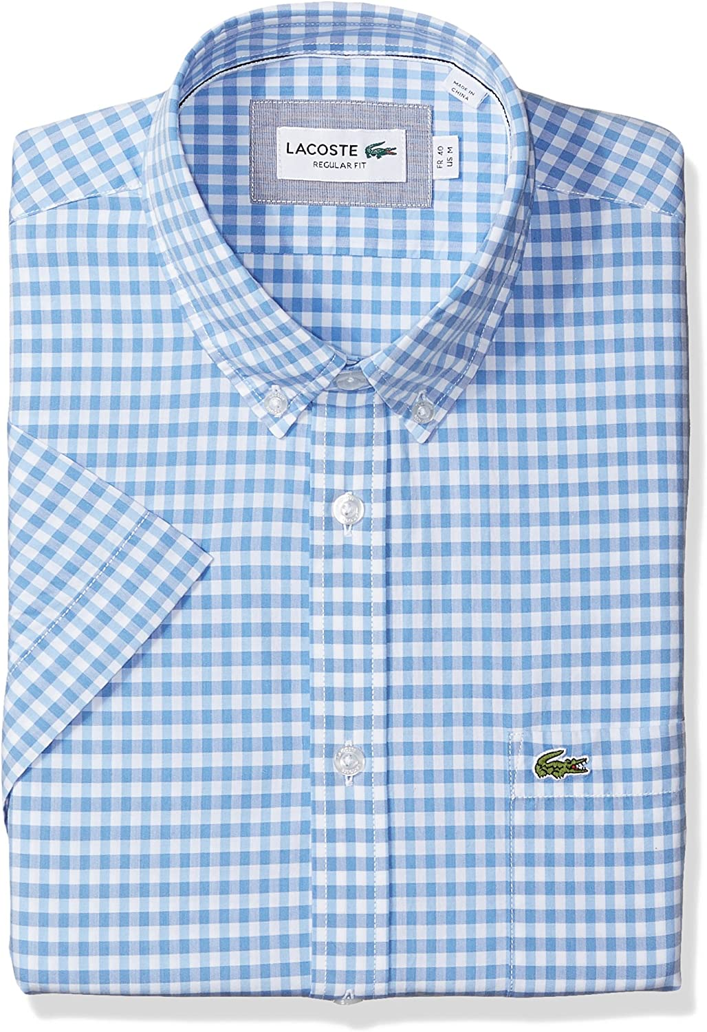 RDHOPE Mens Crew-Neck Long Sleeve Casual Solid with Pockets Woven Shirt