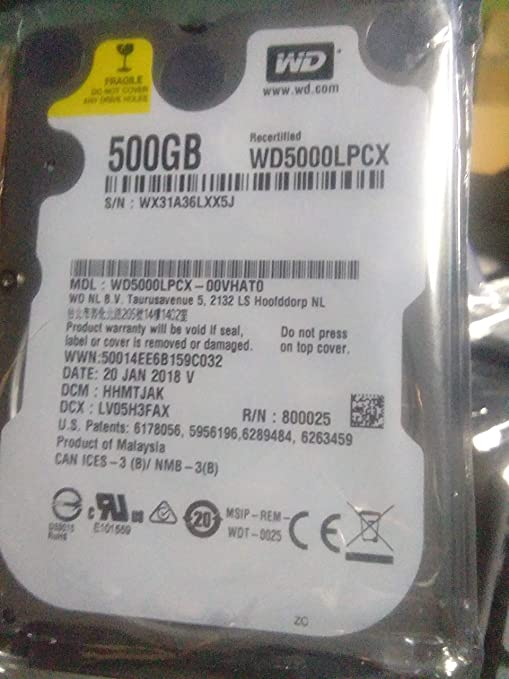 hard disk 500 gb laptop wd internal Internal Solid State Drives at amazon