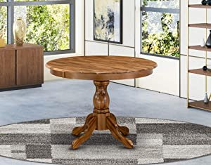 East West Furniture HBT-ANA-TP Table, Round