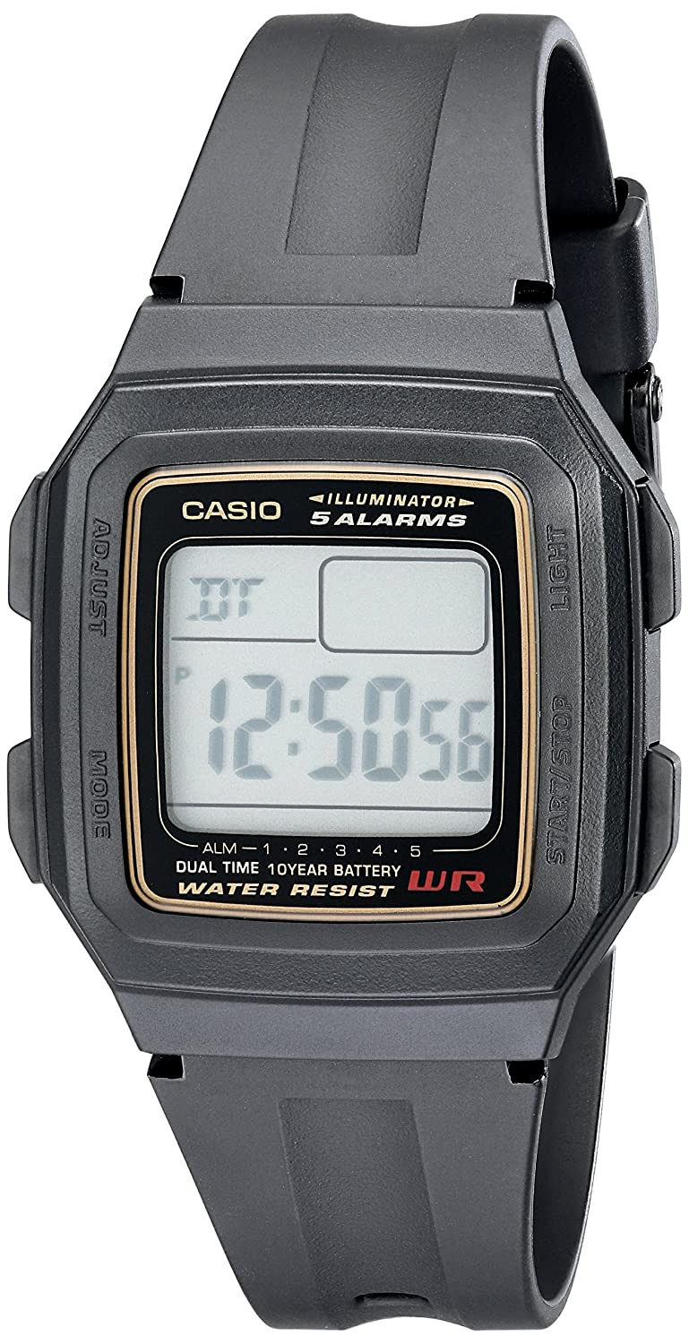 Casio Mens F201WA-9A Multi-Function Alarm Sports Watch