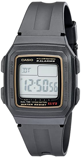 Casio Mens F201WA-9A Multi-Function Alarm Sports Watch ...