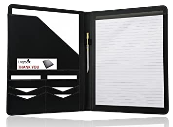 Superb LOGROO Padfolio/ Resume Portfolio Folder For Interview/ Legal Document  Organizer, Business Card Holder Regard To Resume Portfolio Folder