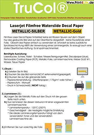 10 Hojas de lámina de Transferencia de Papel Adhesivo de ...