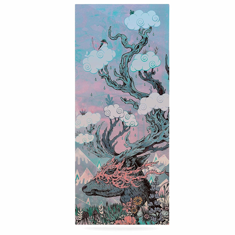 24 x 36 Kess InHouse Mat Miller Journeying Spirit Deer Lavender Fantasy Luxe Rectangle Panel
