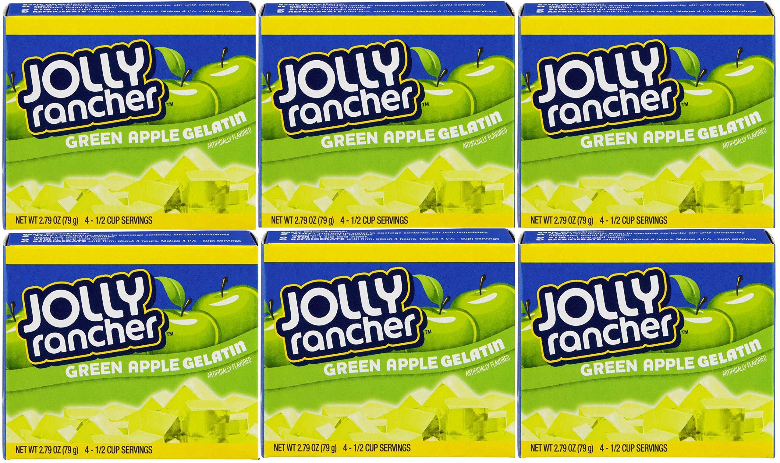 Jolly Rancher Gelatin Powder: Green Apple, Pack of 6