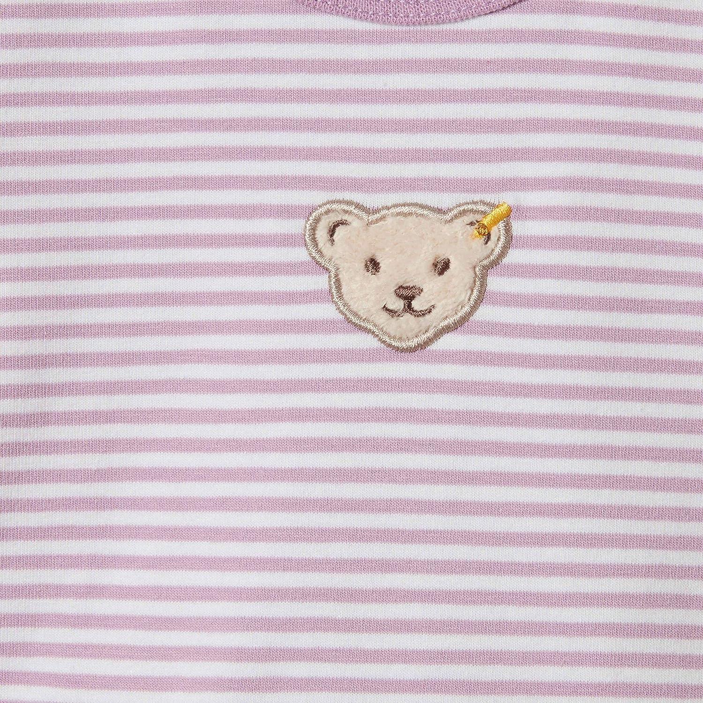 T-Shirt langarm gestreift mit Volantabschluss