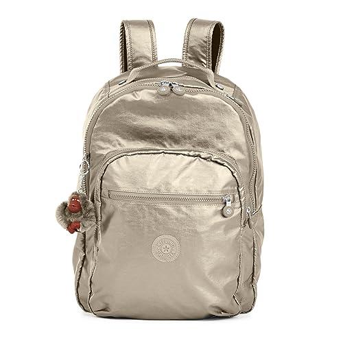 Kipling - Bolso mochila para mujer plateado Metallic Pewter: Amazon.es: Zapatos y complementos