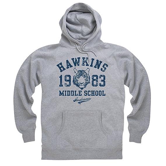 Inspired By Stranger Things Hawkins Middle School Hoodie Herren