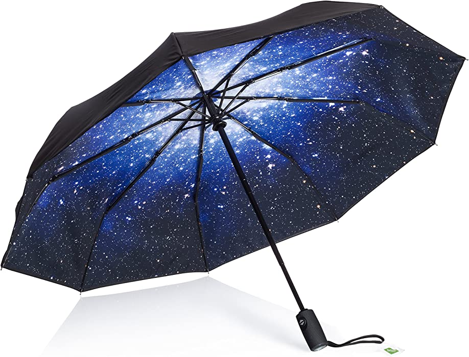 909a2985671a Windproof Travel Umbrella Small - with Teflon Coating (Starry Night)