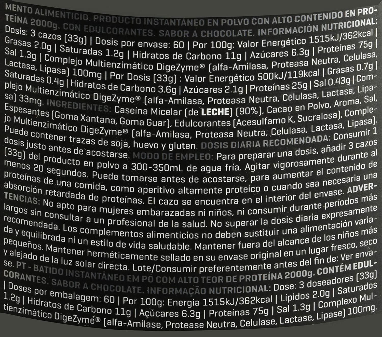 Prozis Xtreme Casein SS, Sabor Chocolate - 2000 gr