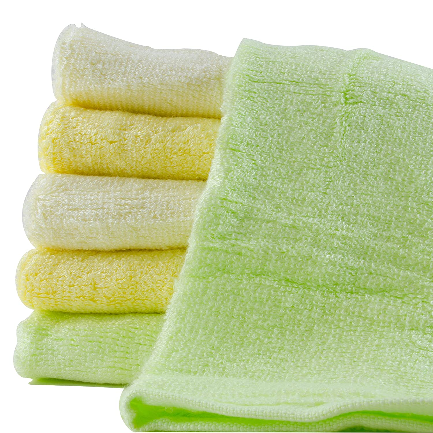 Amazon Bonzerdigs Bamboo Baby Towels 10 X 10 Inches Pack of 6