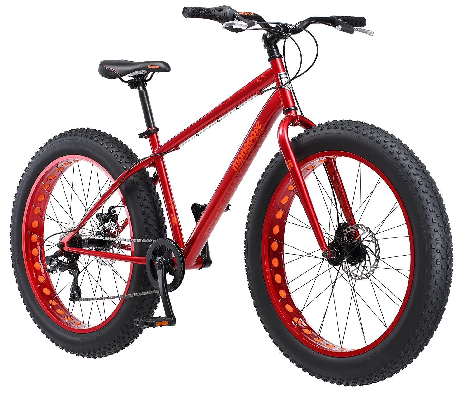 Mongoose Aztec Fat Tire Bicycle Red Sports Outdoors
