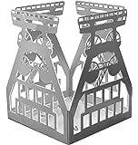 Teelichthalter Förderturm aus Edelstahl