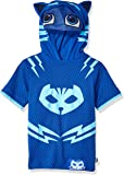 PJ Masks Boys' Little Short Sleeve Catboy Hoodie W/Mask