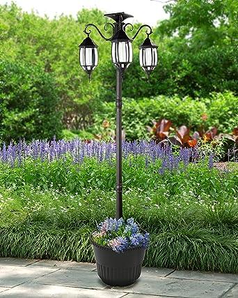 powered lighting pole light lights smartcasual co post solar lamp posts outdoor