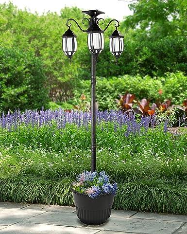 Sun Ray Madison Solar Lamp Post And Planter Amazon Com