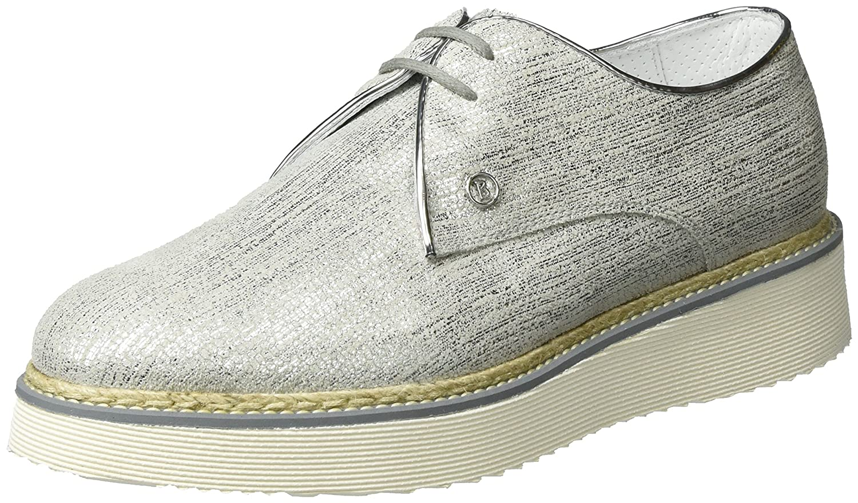 Bogner Oslo 14a, Zapatos de Cordones Derby para Mujer 42 EU|Plateado (Silver 14)