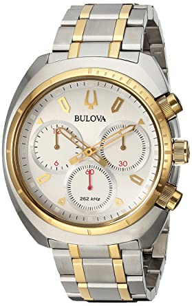 257ae5b31 Bulova Men's Curv Collection Analog-Quartz Watch with Stainless-Steel  Strap, Two Tone