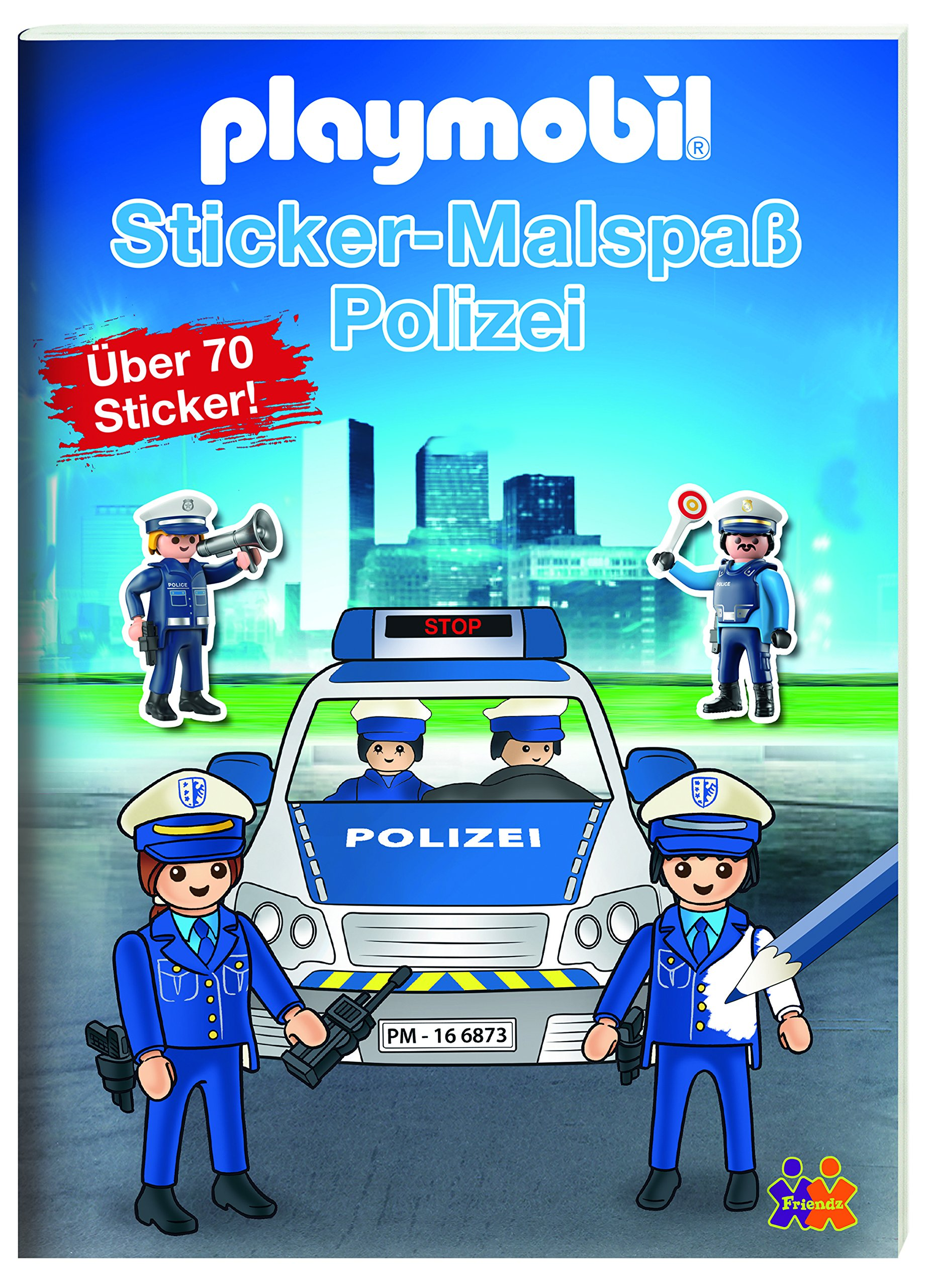 Playmobil. Mein Sticker-Malbuch Polizei: Amazon.de: Friendz @ Kids ...
