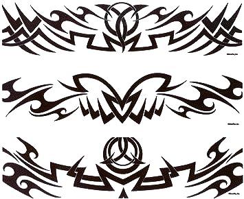 Tribal Tattoo Designer Strips ~ Edible Image Cake / Cupcake Topper ...