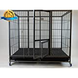 "49"" Stackable Open Top Heavy Duty Cage w/Casters"