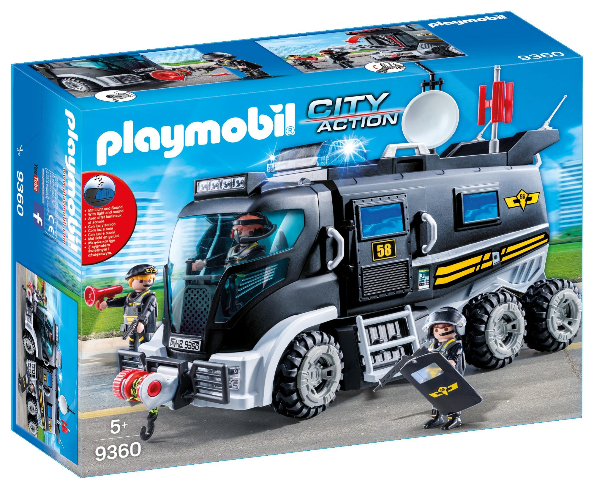 PLAYMOBIL 9360 SWAT Team truck with light and sound - NEW 2018 by PLAYMOBIL® (Image #1)